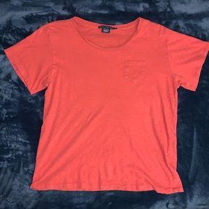 Ralph Lauren Sport Heather Red 100% Cotton Tee